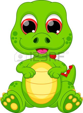 328x450 Cute Baby Dinosaur Cartoon Royalty Free Cliparts, Vectors,