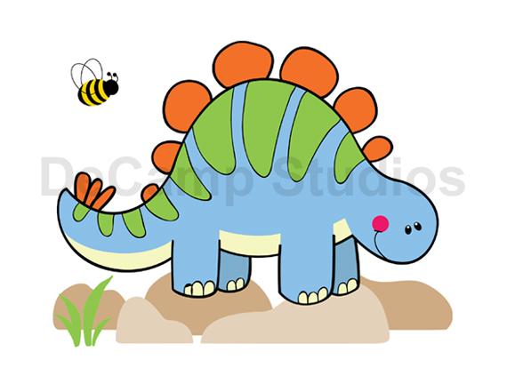 570x441 Dinosaur Stegosaurus Mural Wall Decals Baby Boy Dino Art Sticker