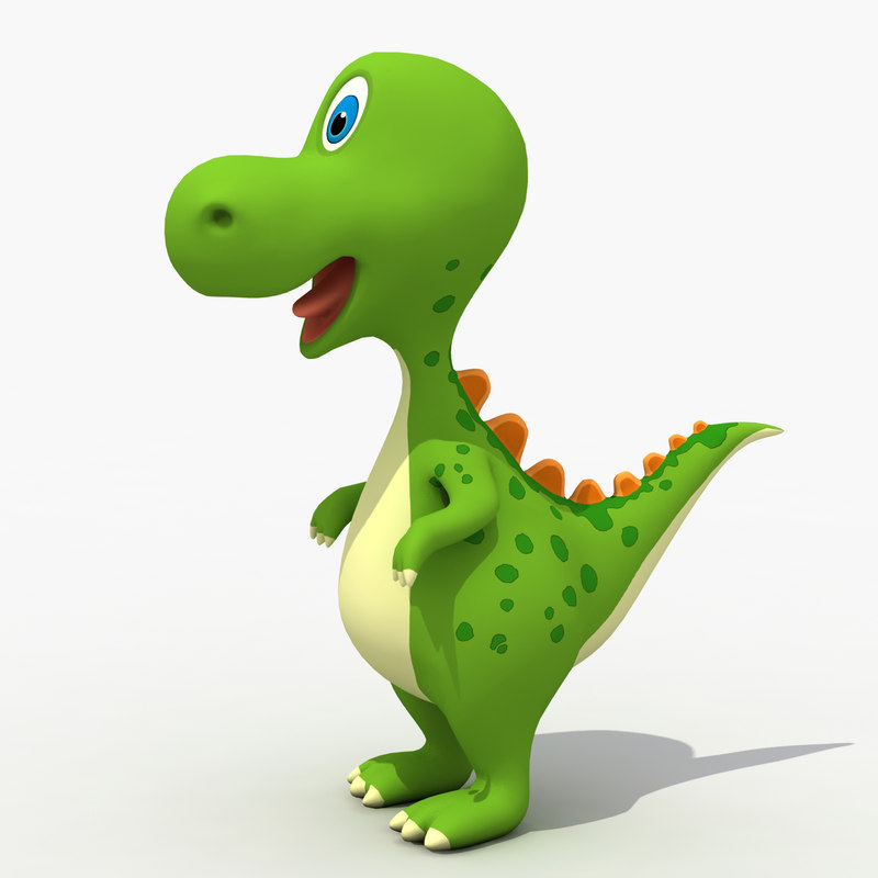 800x800 3d Cute Baby Dinosaur 1145832 Turbosquid