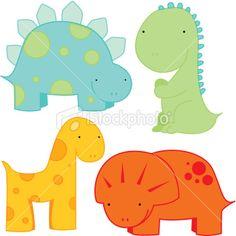236x236 Dinosaur Clipart Baby Shower