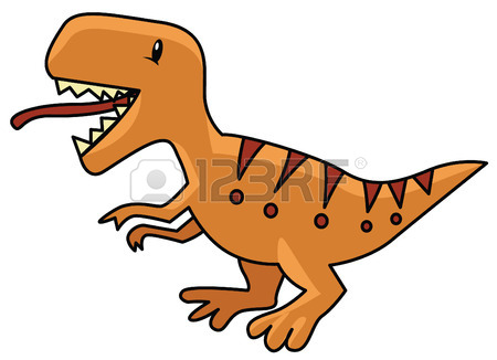 450x326 Vector Illustration Of Dinosaurs Including Stegosaurus