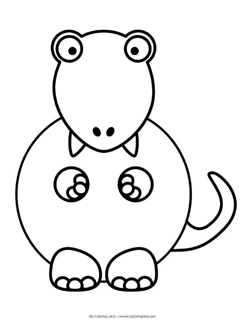 816x1056 Cute Dinosaur