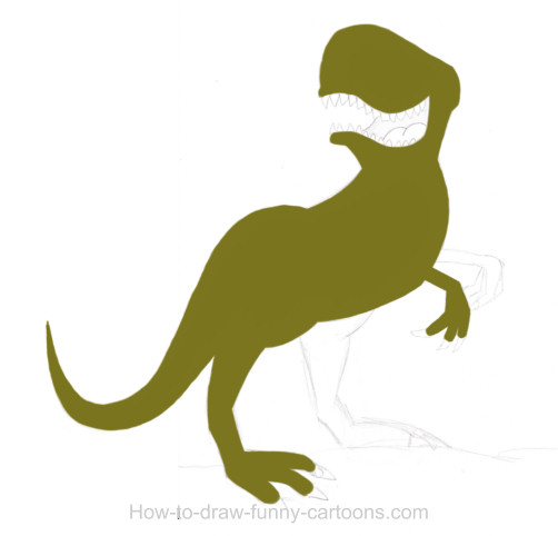 502x482 Dinosaur Drawing (Cartoon Painting)