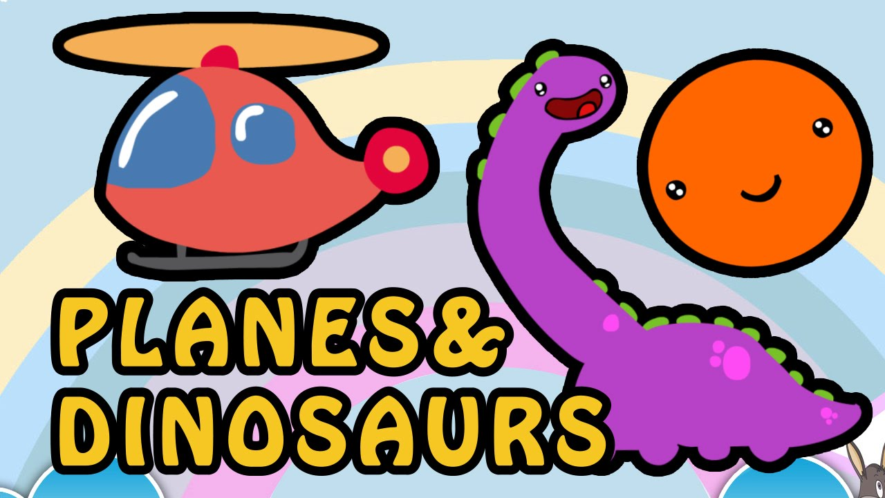 1280x720 Planes And Dinosaurs Alphabet Animation Nursery Rhymes