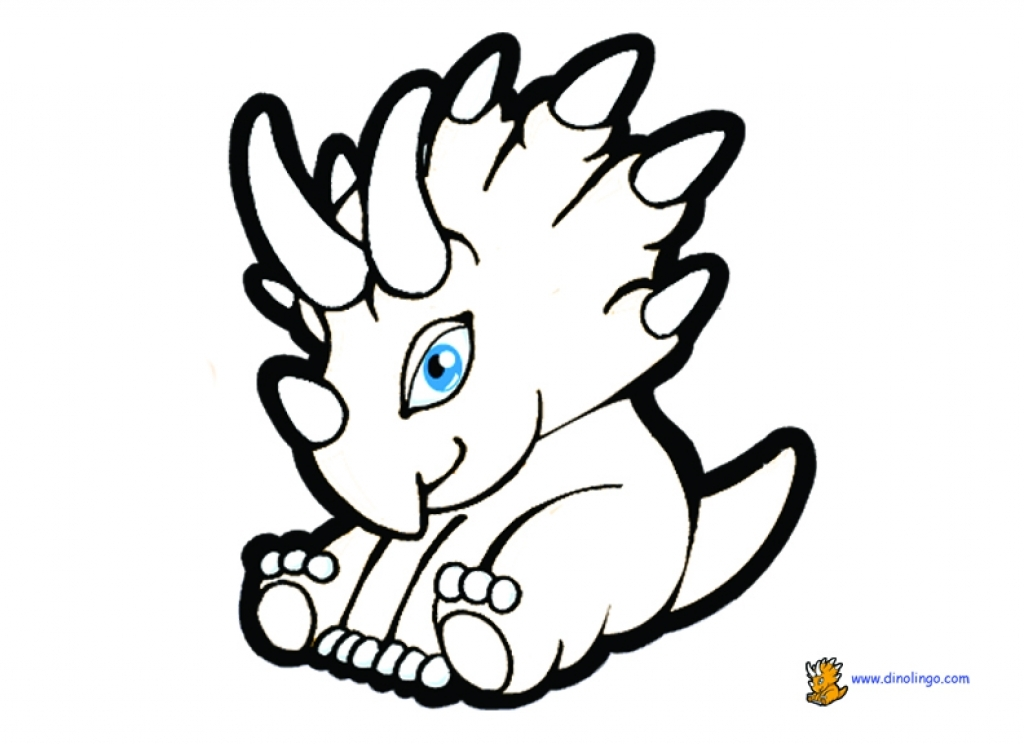 1024x744 Cute Dinosaur Coloring Pages Murderthestout