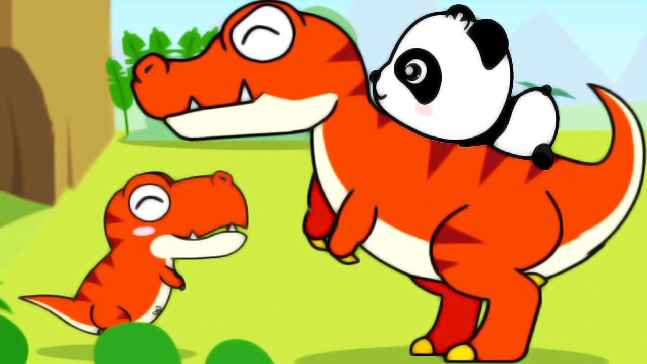 1280x720 Baby Panda Dinosaur Planet