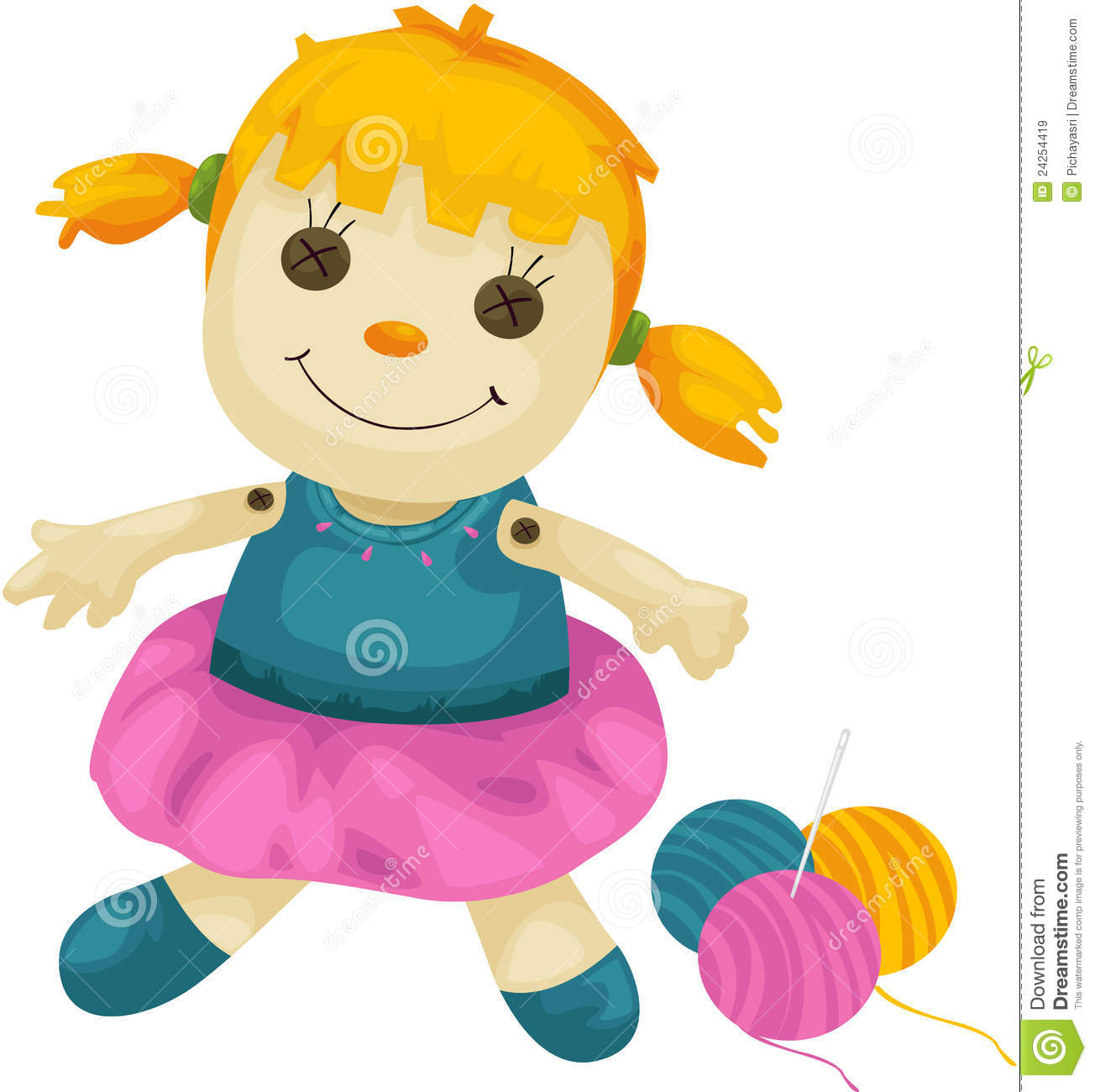 1304x1300 Doll Clip Art