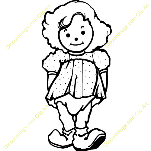 500x500 Drawing Clipart Doll
