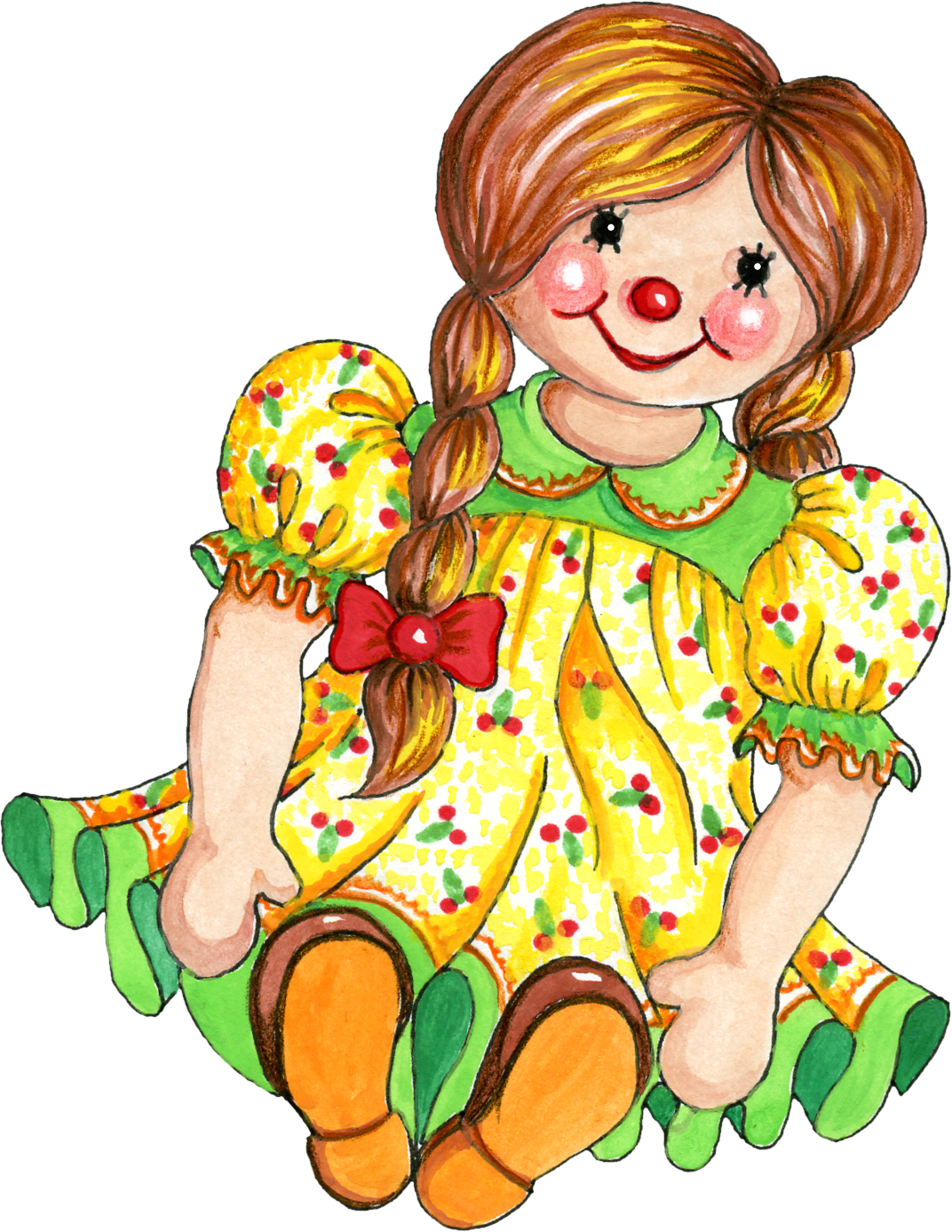 1072x1387 Ragdoll Clipart Cute Doll