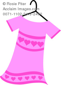 217x300 Illustration Of Clothing Women's Dress In Pink With Hearts