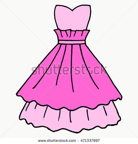 450x470 Pink Dress Clipart Party Dress