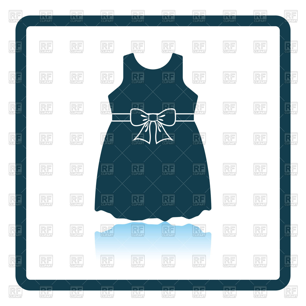 1200x1200 Shadow Reflection Design Of Baby Girl Dress Icon Royalty Free