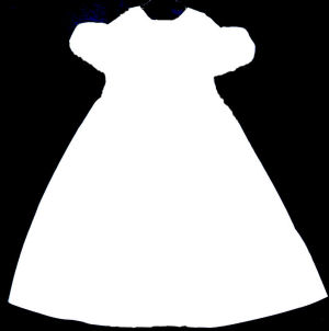 300x302 White Dress Clipart Baby