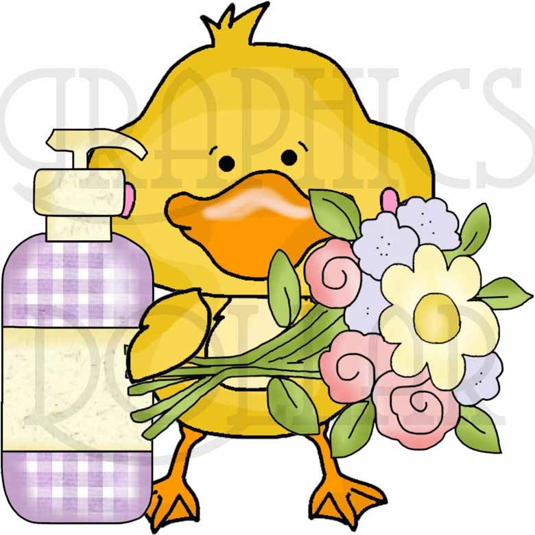 780x780 Soapy Sweet Baby Duck Clip Art Set