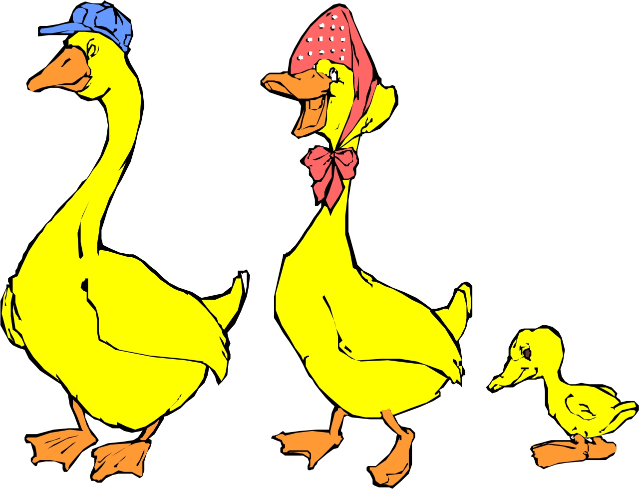 1280x979 Duckling Clipart Mom Baby Animal