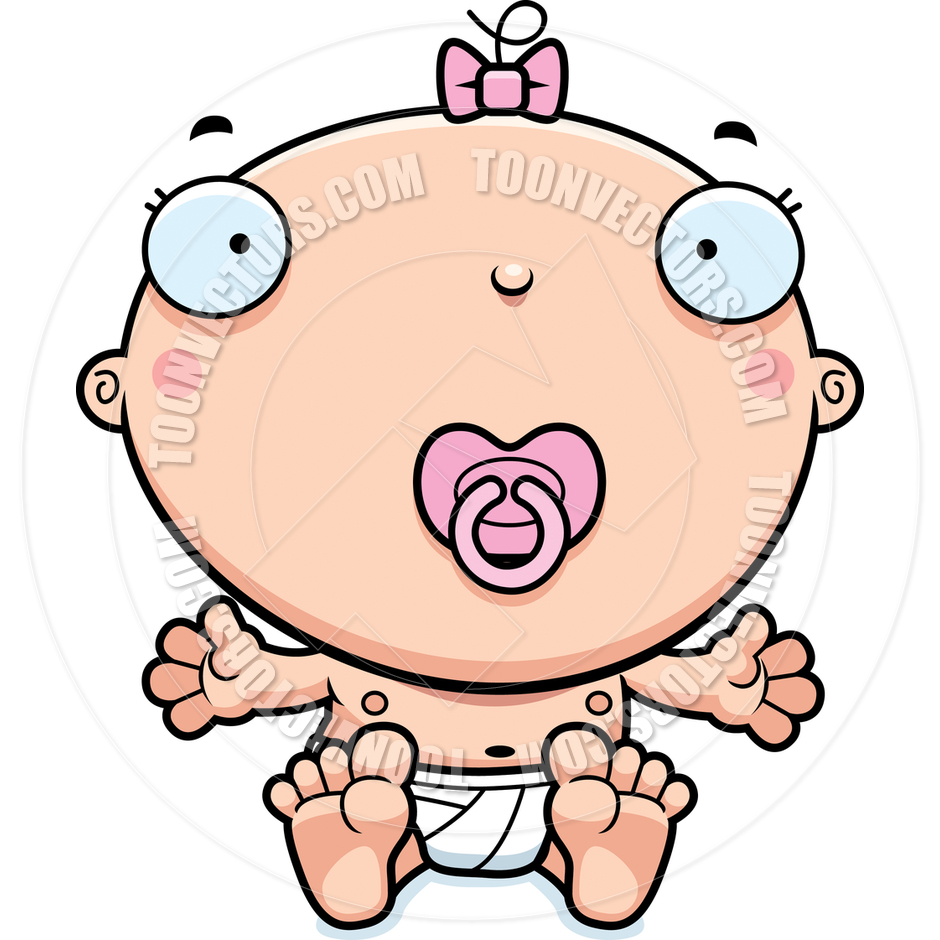 940x940 Cartoon Baby Girl Pacifier By Cory Thoman Toon Vectors Eps
