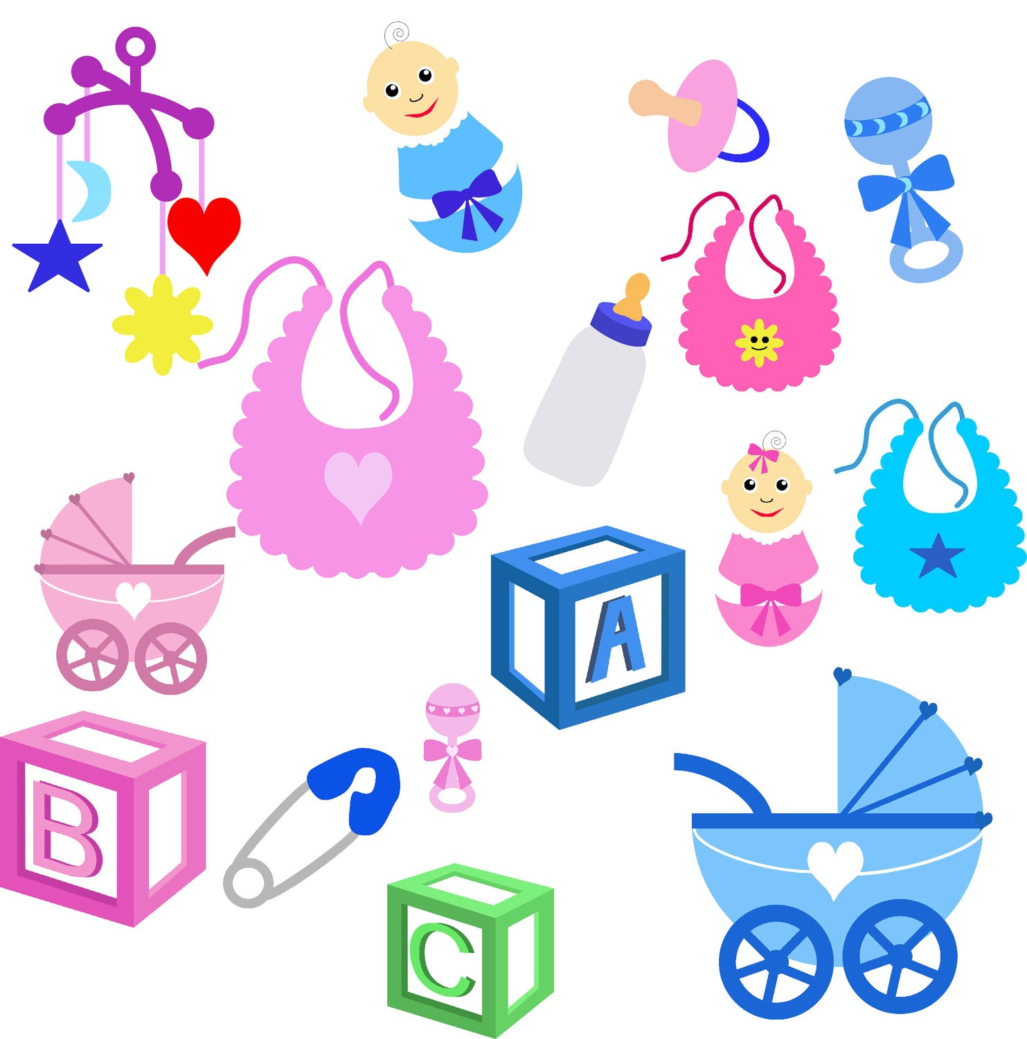 1483x1500 Pacifier And Bottle Clipart