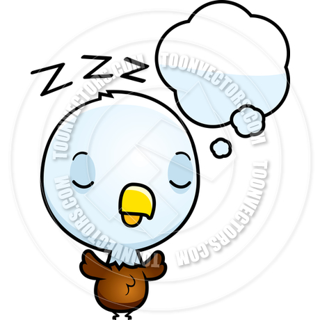 460x460 Cartoon Baby Bald Eagle Dreaming By Cory Thoman Toon Vectors Eps
