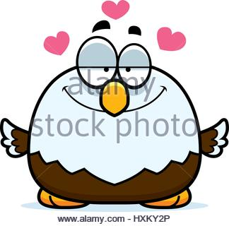 324x320 A Cartoon Illustration Of A Baby Eagle In A Nest Stock Vector Art