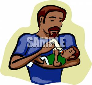 300x277 Art Image A Father Feeding His Son A Bottle