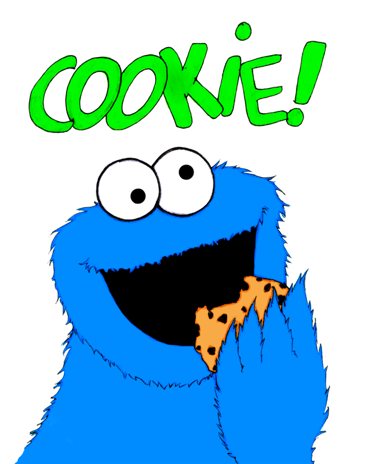 1200x1500 Cookie Monster Baby Clipart