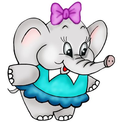 Baby Elephant Cartoon Clipart