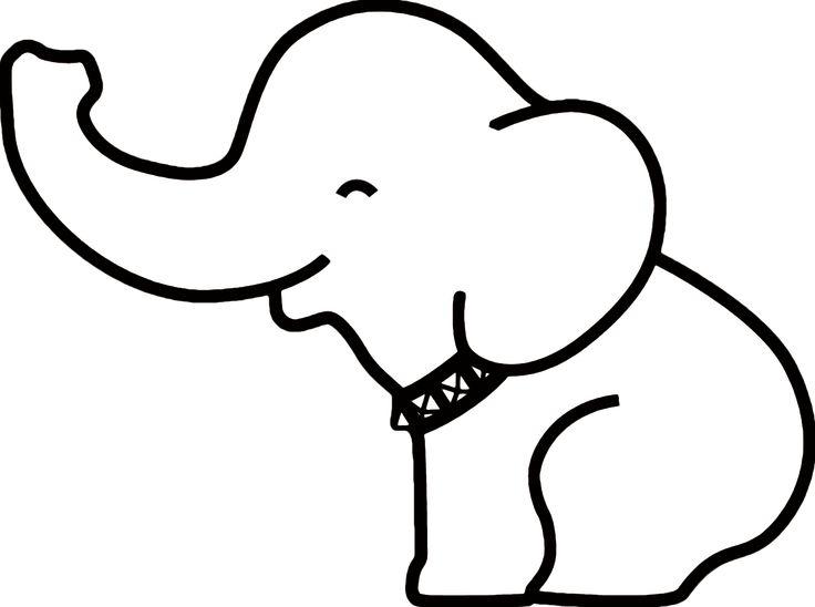 736x548 Best Elephant Outline Ideas Easy Elephant