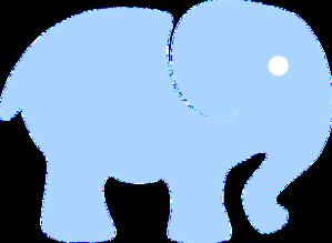 299x219 Elephant Clipart Light Blue