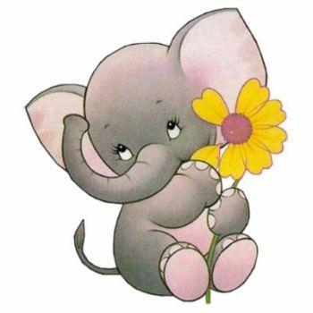 350x350 Adorable Clipart Baby Elephant