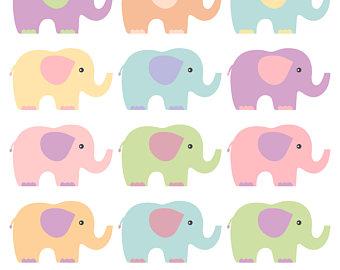 340x270 Pink And Grey Baby Elephants Clip Art Set Elephant