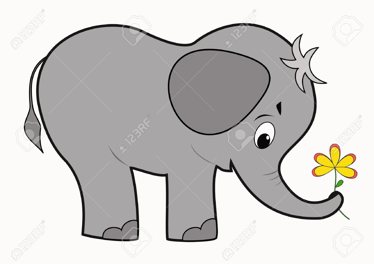 1300x918 Asian Elephant Clipart Baby Elephant