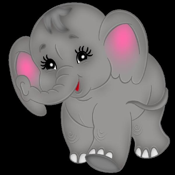 600x600 Baby Elephant Clipart 2 2