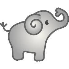 225x225 Cute Elephant Clipart Black And White Clipart Panda