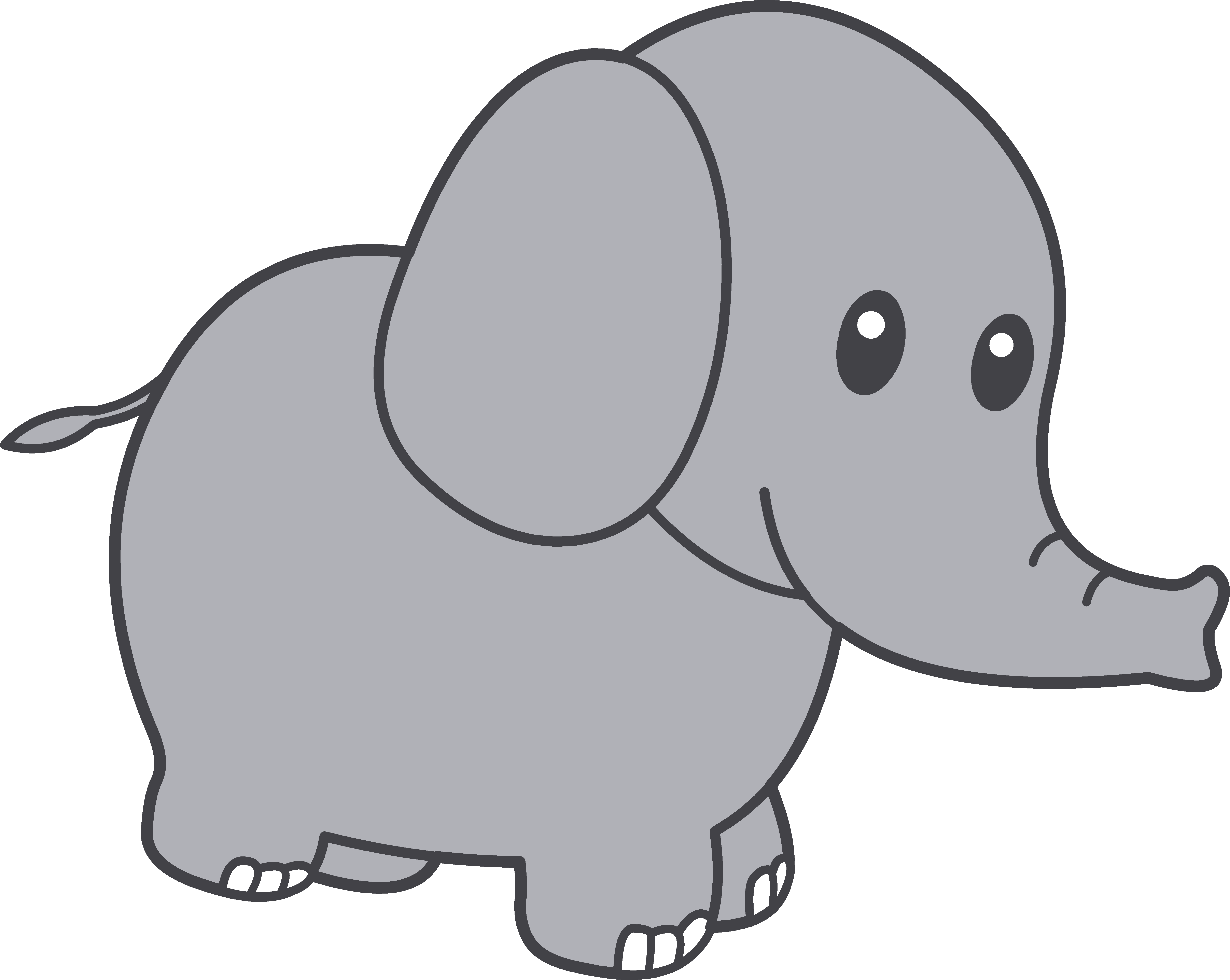 6062x4830 Elephant Clip Art Black And White Free Clipart 6