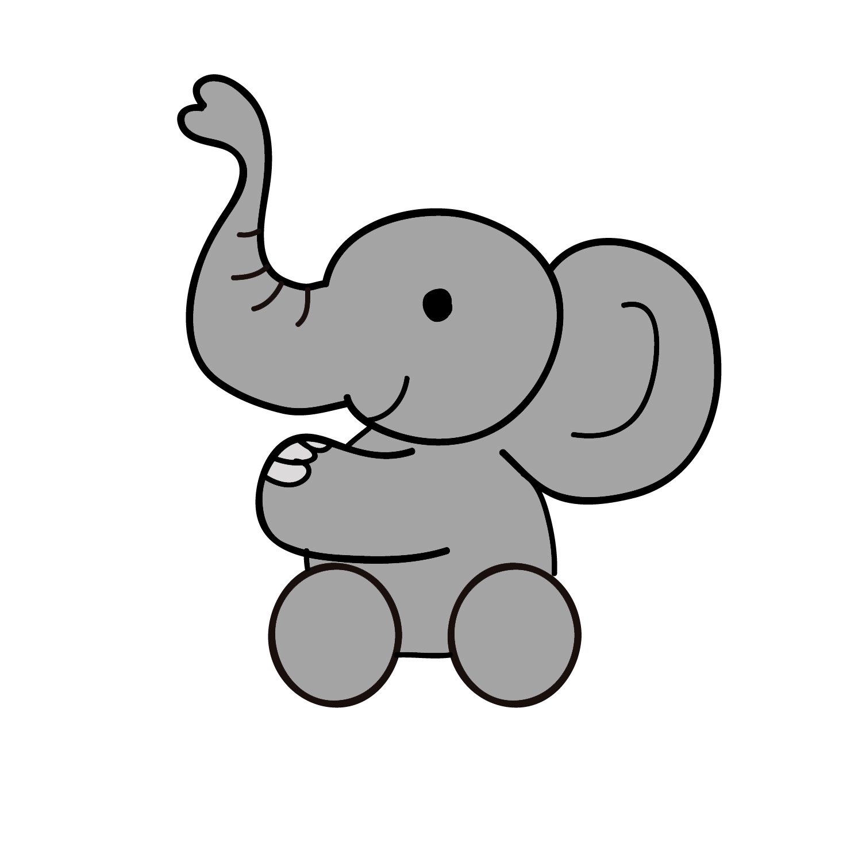 1500x1500 Elephant Clipart Wallpaper