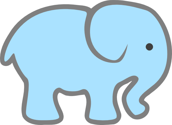 600x436 Baby Elephant Clipart Outline Free Images