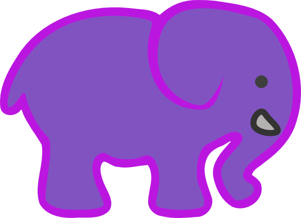 600x436 Baby Elephant Clipart Outline Free Images 6
