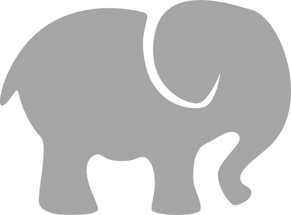 600x442 Baby Elephant Outline Clipart Kid