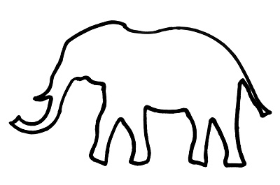 400x265 Best Elephant Outline