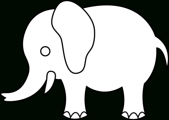 550x390 Elephant Clipart Outline Letters Example