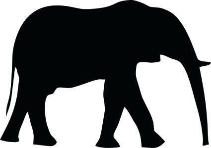 425x299 Outline Of Elephant Download Baby Elephant Outline Drawing Stock