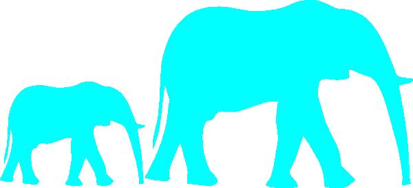 600x274 Baby Elephant Stencil