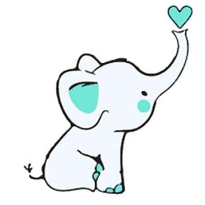 400x400 Baby Elephant With Heart Tattoo Design Baby Tattoo