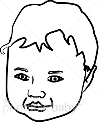Baby Face Outline | Free download on ClipArtMag