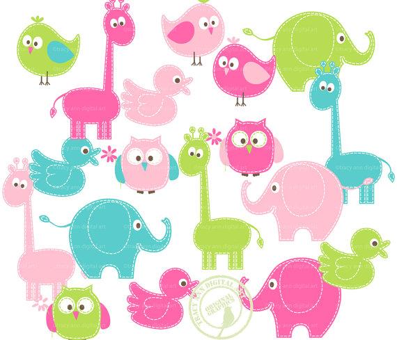 570x489 Farm Animals Clipart Pink