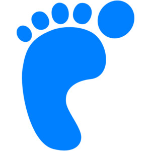 300x300 Baby Foot Clipart