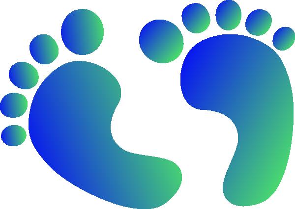 600x426 Blue Amp Green Baby Feet Clip Art