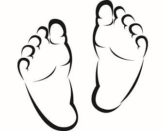 340x270 Newborn Feet Svg Etsy