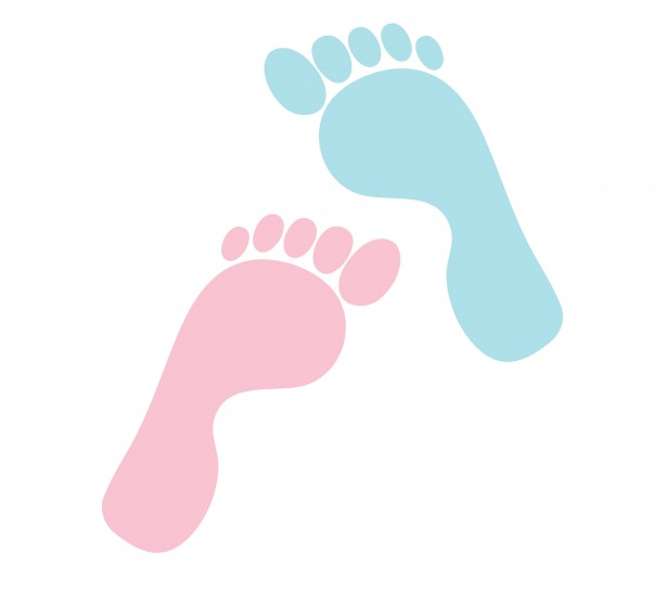 615x558 Pink Clipart Baby Foot