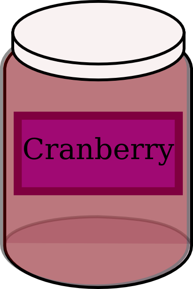396x594 Cranberry Food Jar Clip Art